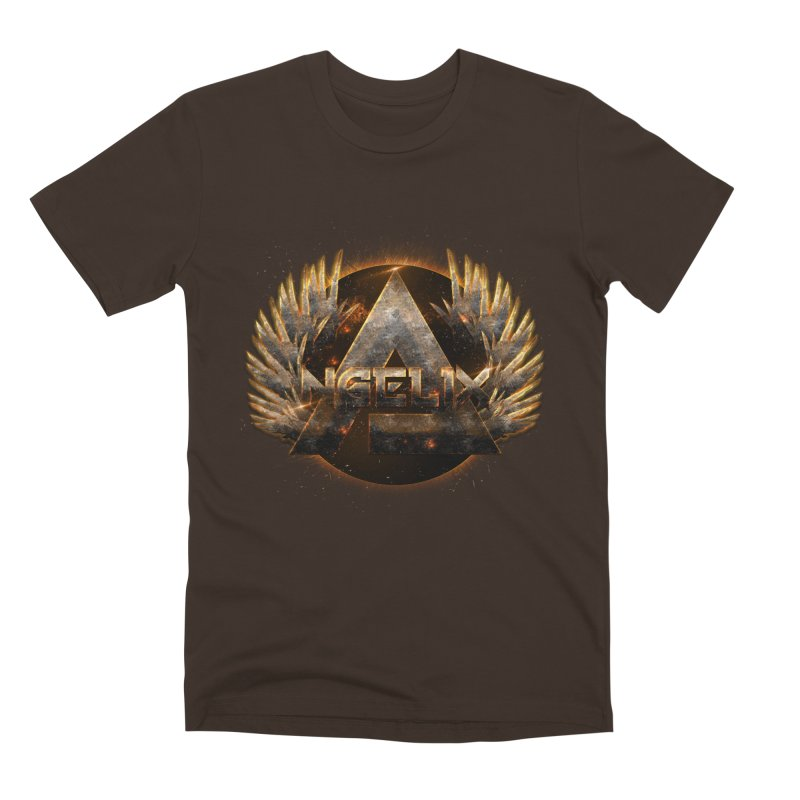 """Angelix"" Symbolic in Men's Premium T-Shirt Chocolate by Official Loc Saint Music Merch"