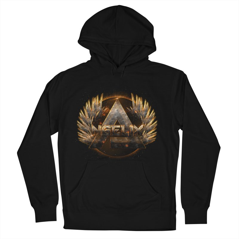 """Angelix"" Symbolic in Men's French Terry Pullover Hoody Black by Official Loc Saint Music Merch"