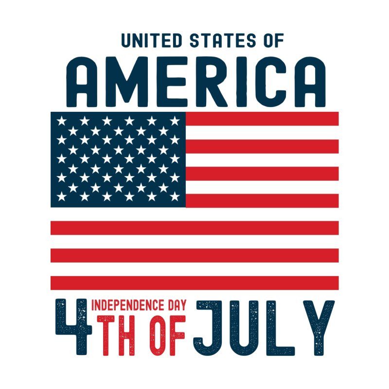 USA 4th of July Independence Day Men's T-Shirt by Logo Gear & Logo Wear
