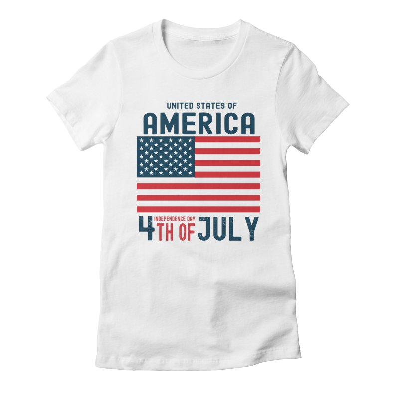 USA 4th of July Independence Day Women's T-Shirt by Logo Gear & Logo Wear