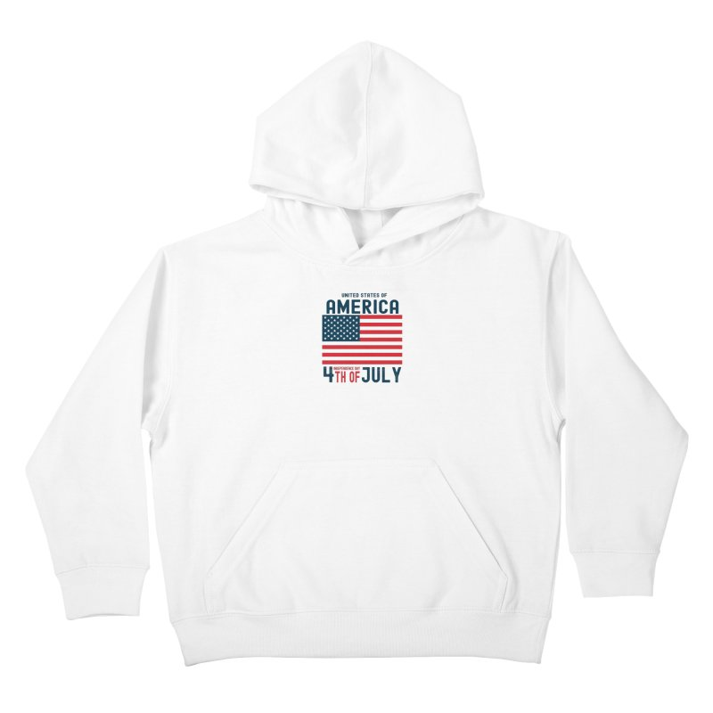 USA 4th of July Independence Day Kids Pullover Hoody by Logo Gear & Logo Wear