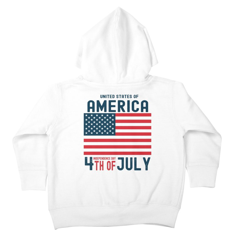 USA 4th of July Independence Day Kids Toddler Zip-Up Hoody by Logo Gear & Logo Wear