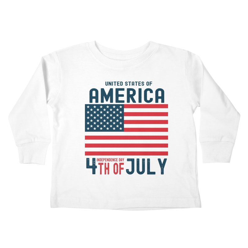 USA 4th of July Independence Day Kids Toddler Longsleeve T-Shirt by Logo Gear & Logo Wear