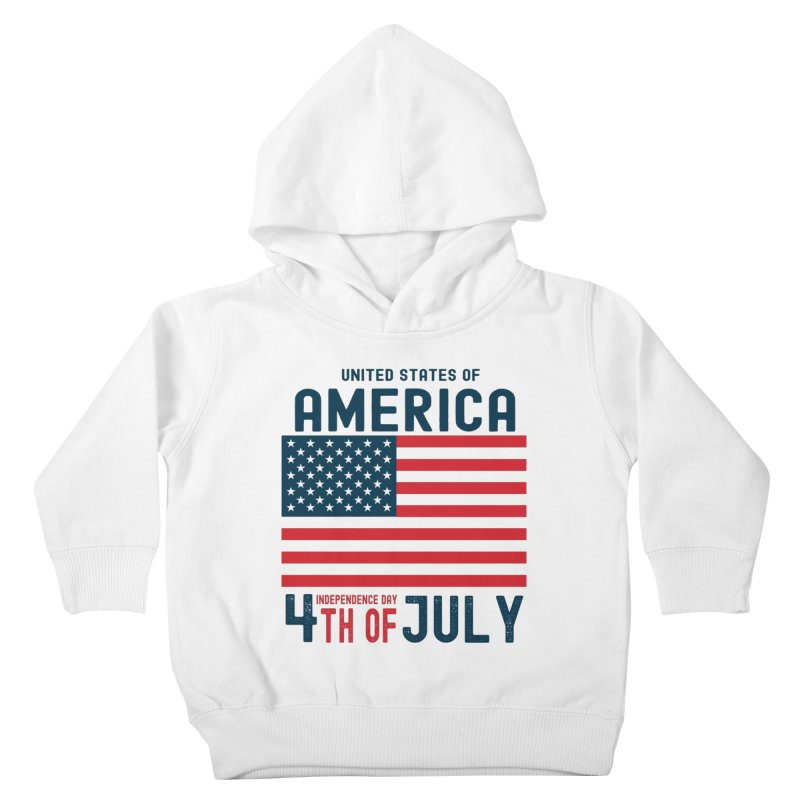 USA 4th of July Independence Day Kids Toddler Pullover Hoody by Logo Gear & Logo Wear