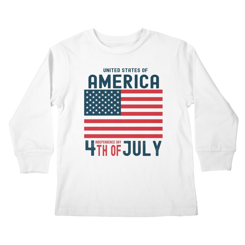 USA 4th of July Independence Day Kids Longsleeve T-Shirt by Logo Gear & Logo Wear