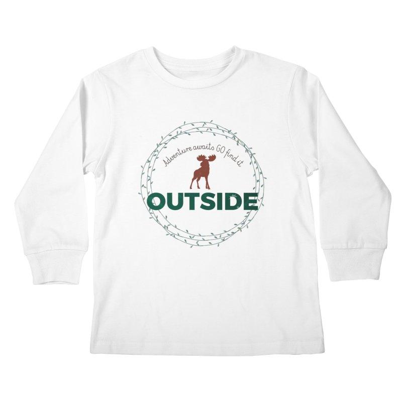"""""""Adventure awaits GO find it OUTSIDE"""" Nature Lover's Tee Kids Longsleeve T-Shirt by Logo Gear & Logo Wear"""