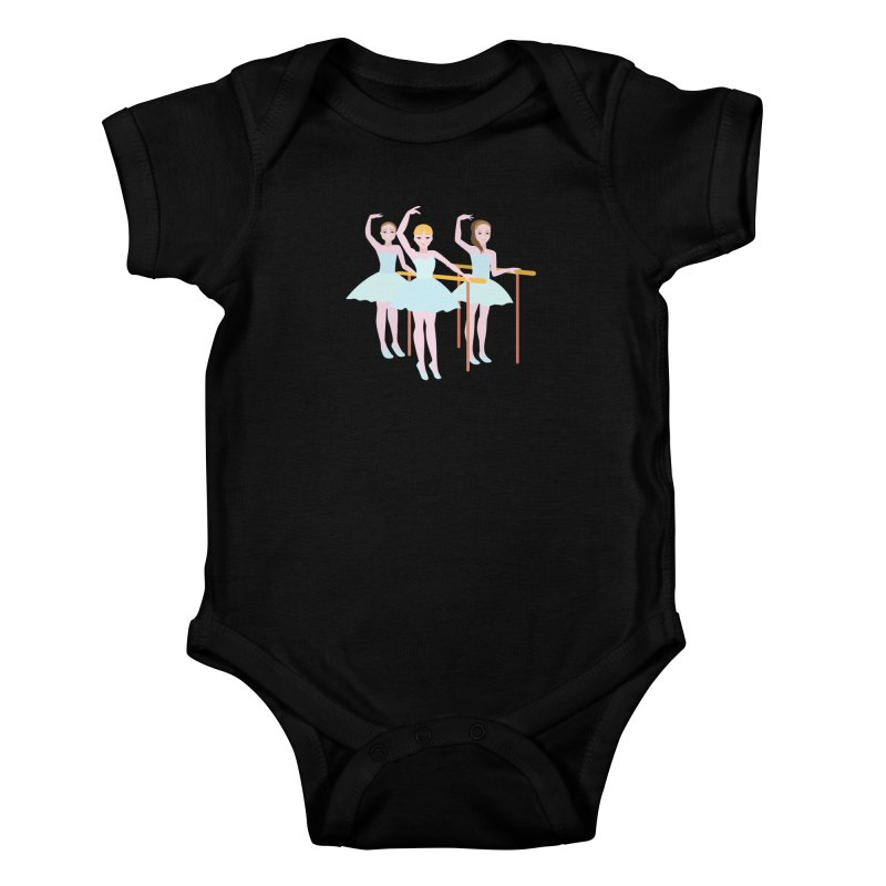 Girls at Ballet Class Kids Baby Bodysuit by Logo Gear & Logo Wear
