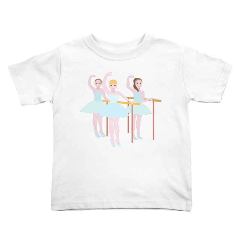 Girls at Ballet Class Kids Toddler T-Shirt by Logo Gear & Logo Wear