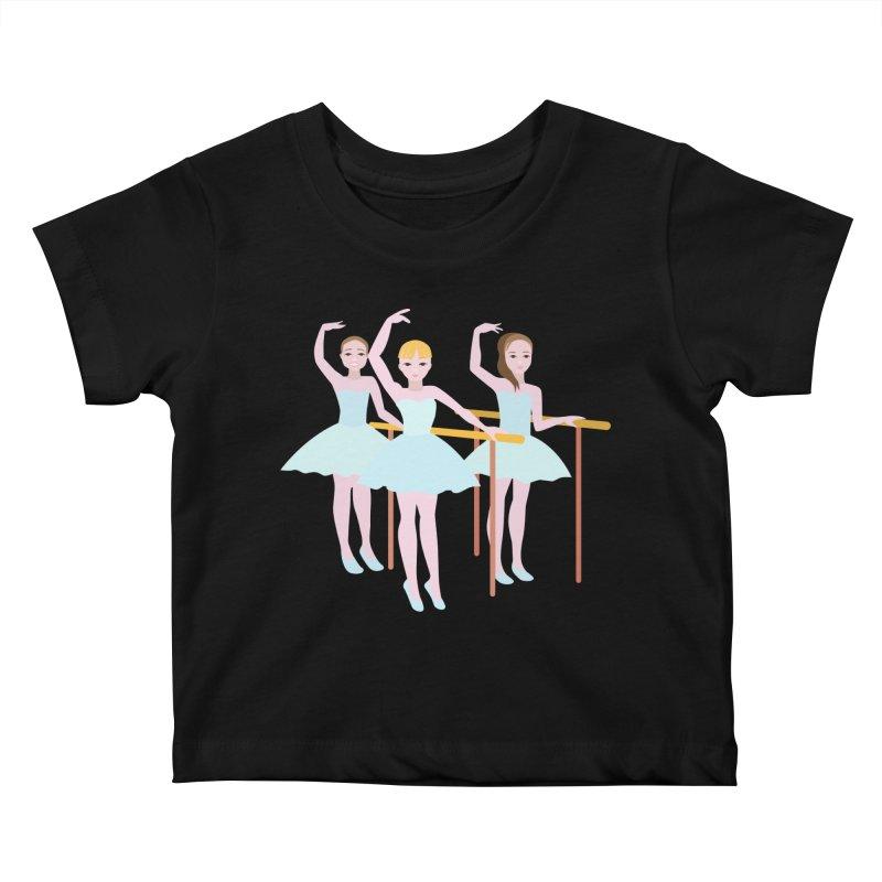Girls at Ballet Class Kids Baby T-Shirt by Logo Gear & Logo Wear