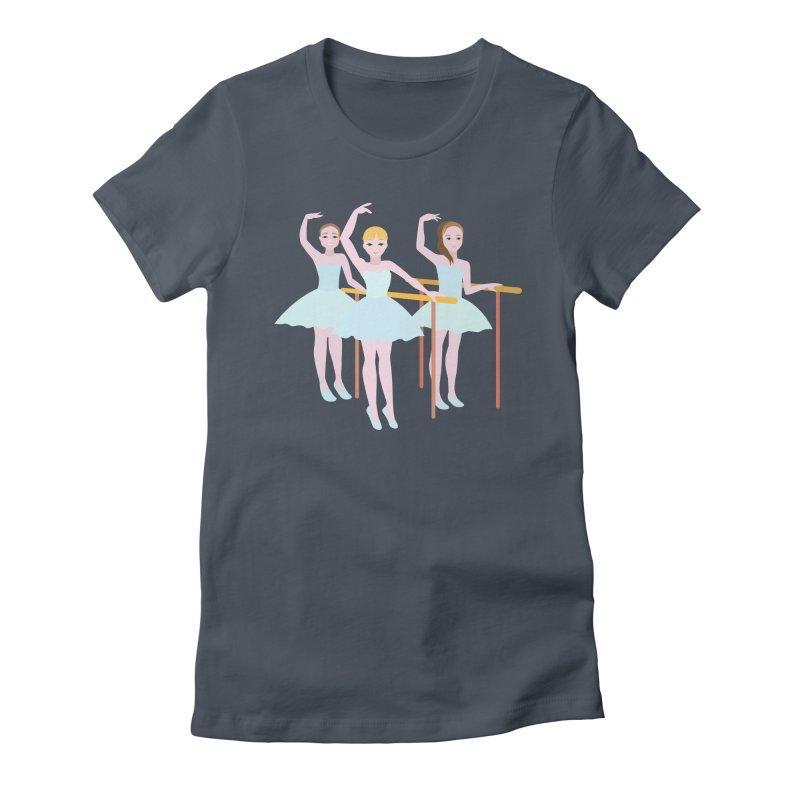 Girls at Ballet Class Women's T-Shirt by Logo Gear & Logo Wear