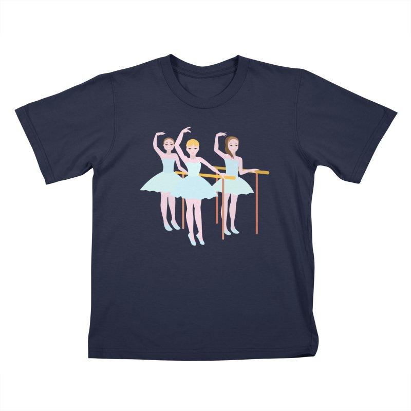 Girls at Ballet Class Kids T-Shirt by Logo Gear & Logo Wear
