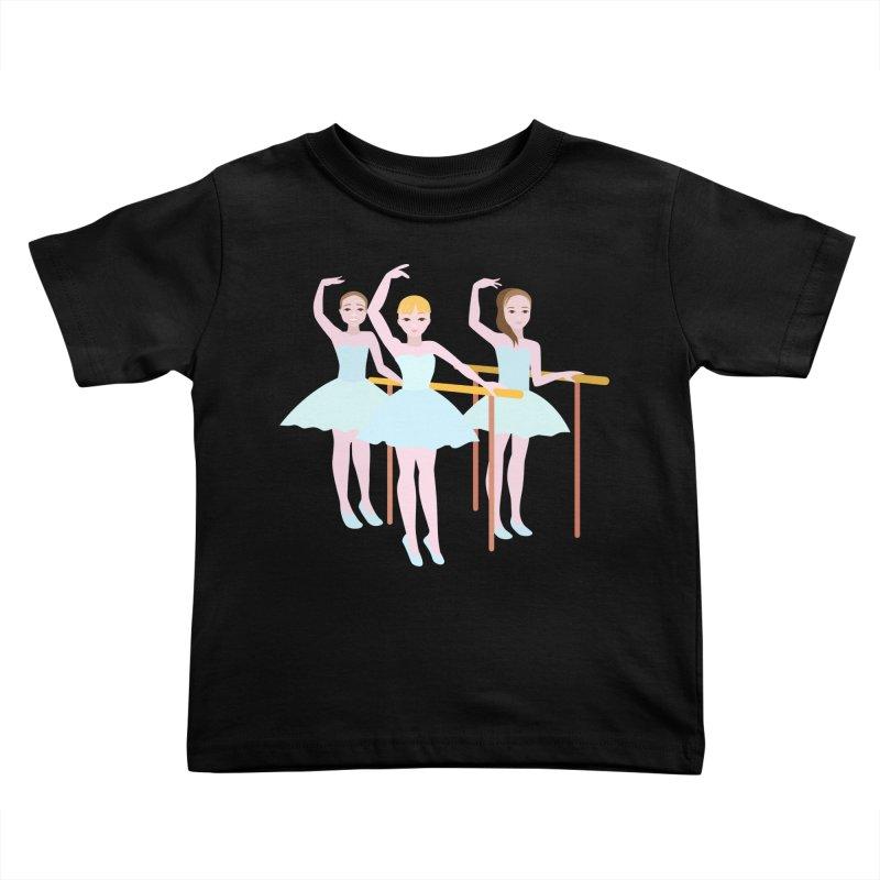 Girls at Ballet Class Kids Toddler T-Shirt by Logo Gear & Logo Wear