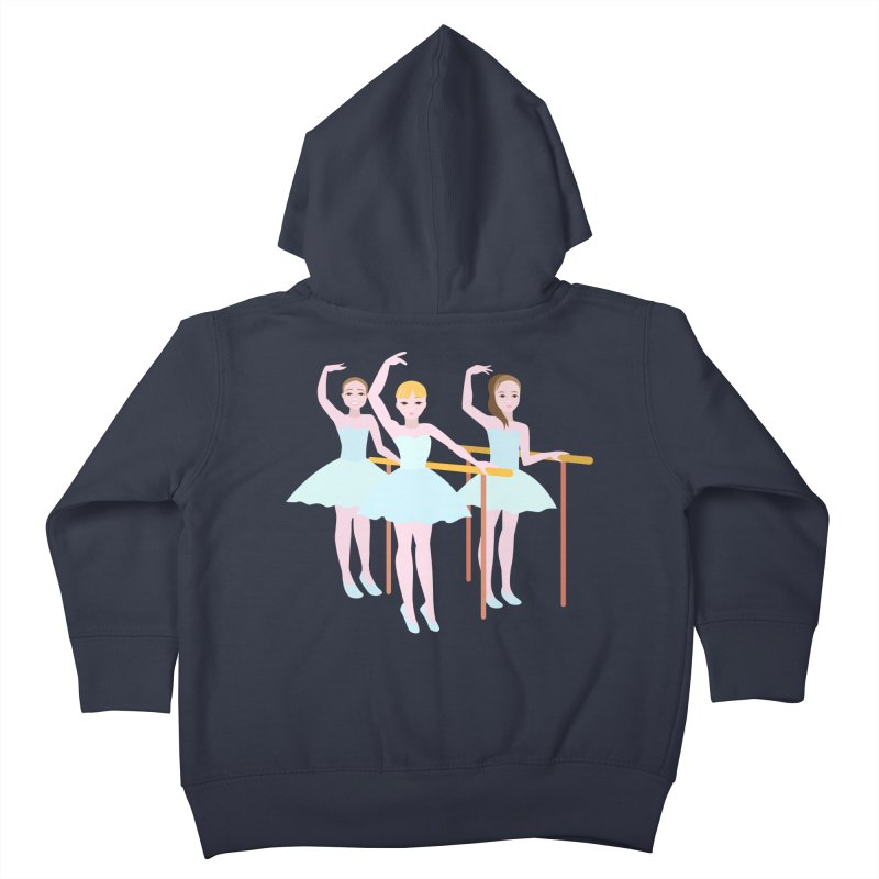 Girls at Ballet Class Kids Toddler Zip-Up Hoody by Logo Gear & Logo Wear