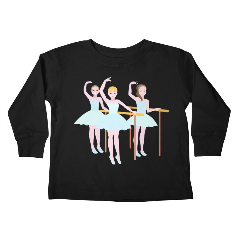 Girls at Ballet Class Kids Toddler Longsleeve T-Shirt by Logo Gear & Logo Wear