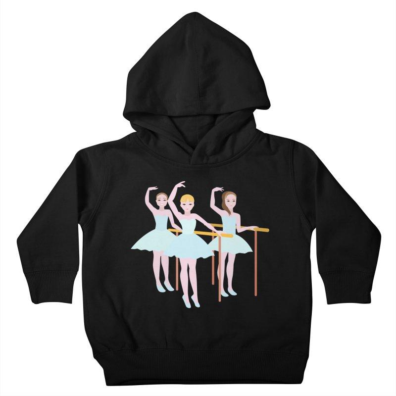 Girls at Ballet Class Kids Toddler Pullover Hoody by Logo Gear & Logo Wear