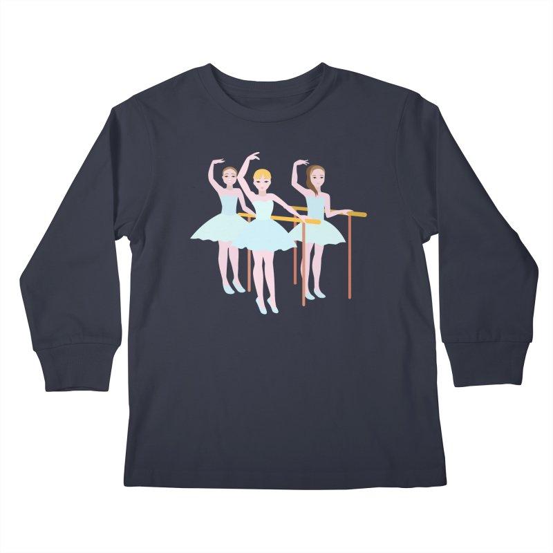 Girls at Ballet Class Kids Longsleeve T-Shirt by Logo Gear & Logo Wear