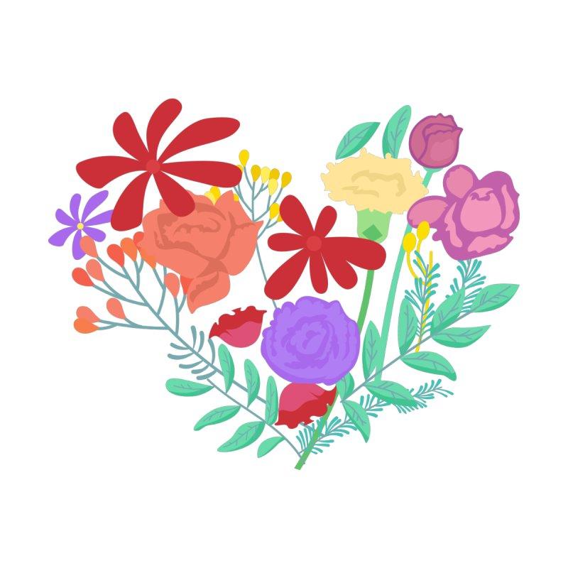 A Heart made of Flowers Kids Baby T-Shirt by Logo Gear & Logo Wear