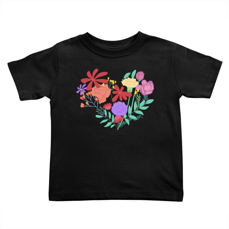A Heart made of Flowers Kids Toddler T-Shirt by Logo Gear & Logo Wear