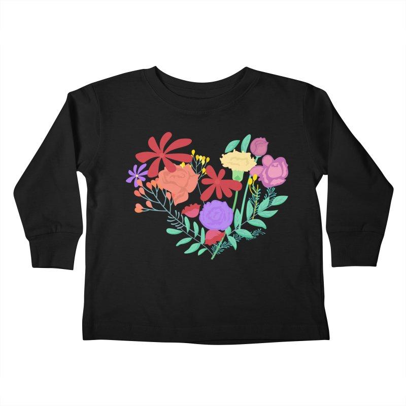 A Heart made of Flowers Kids Toddler Longsleeve T-Shirt by Logo Gear & Logo Wear