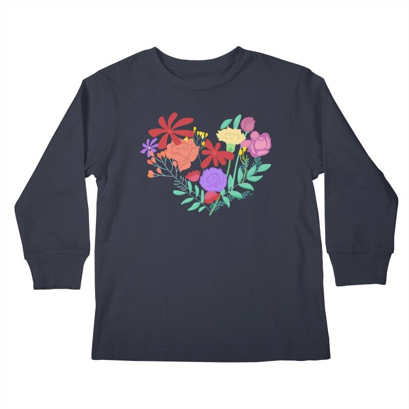 A Heart made of Flowers Kids Longsleeve T-Shirt by Logo Gear & Logo Wear