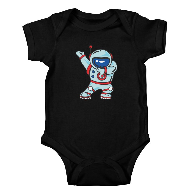 Dabbing Astronaut Kids Baby Bodysuit by Logo Gear & Logo Wear
