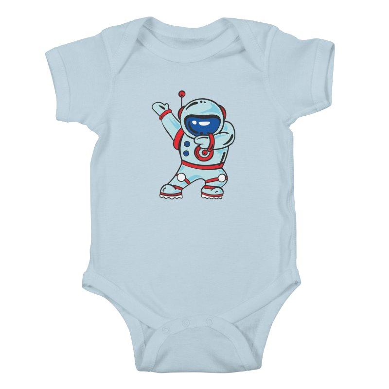 Dabbing Astronaut Kids Baby Bodysuit by Logo Gear & Logo Wear