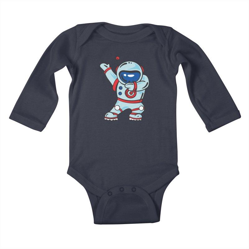 Dabbing Astronaut Kids Baby Longsleeve Bodysuit by Logo Gear & Logo Wear