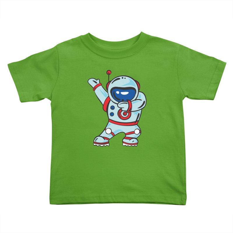 Dabbing Astronaut Kids Toddler T-Shirt by Logo Gear & Logo Wear