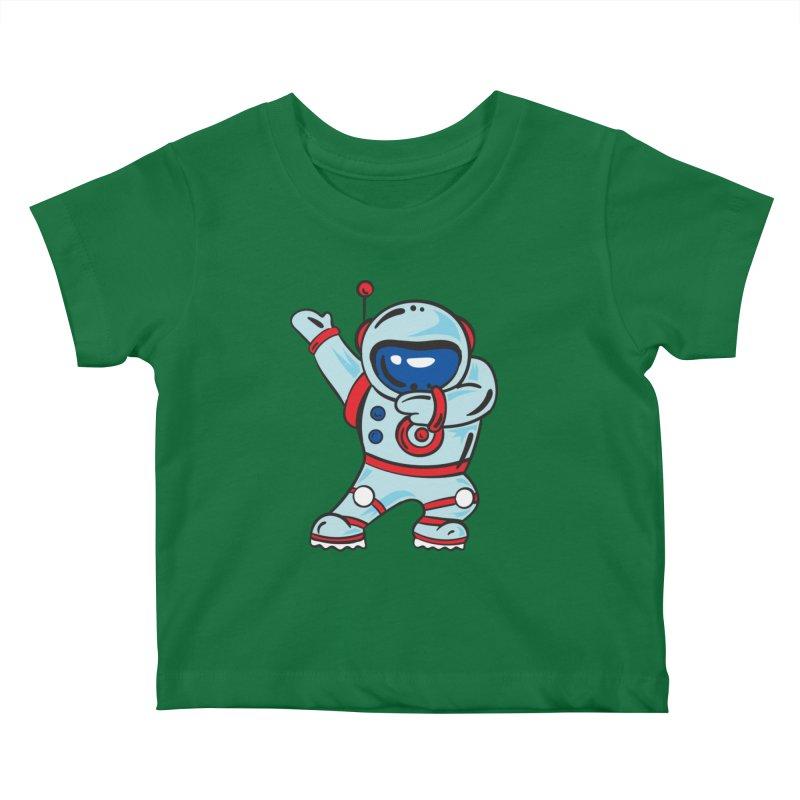 Dabbing Astronaut Kids Baby T-Shirt by Logo Gear & Logo Wear