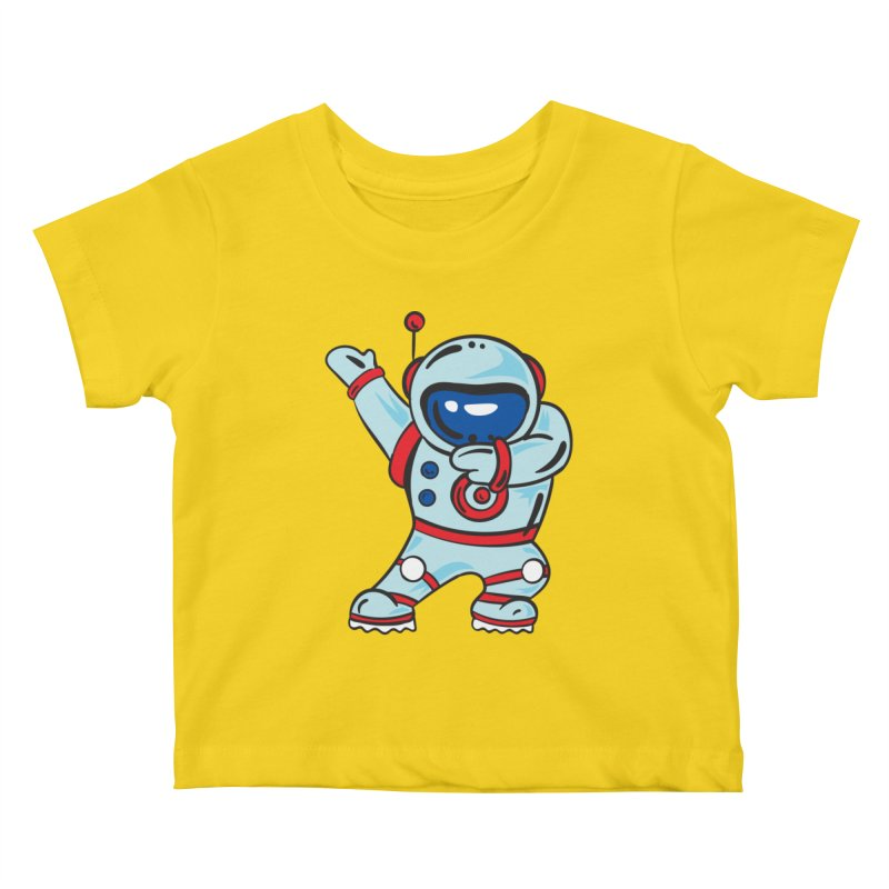 Dabbing Astronaut Kids Baby T-Shirt by Logo Gear & Logo Wear