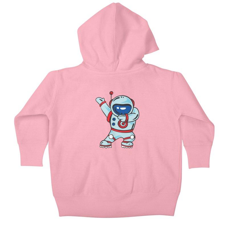 Dabbing Astronaut Kids Baby Zip-Up Hoody by Logo Gear & Logo Wear