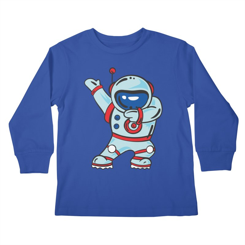 Dabbing Astronaut Kids Longsleeve T-Shirt by Logo Gear & Logo Wear