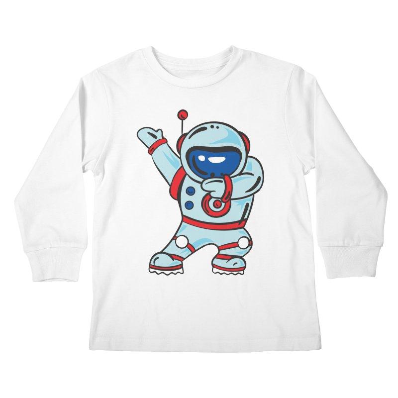 Dabbing Astronaut Kids Longsleeve T-Shirt by Logo Gear & Logo Wear
