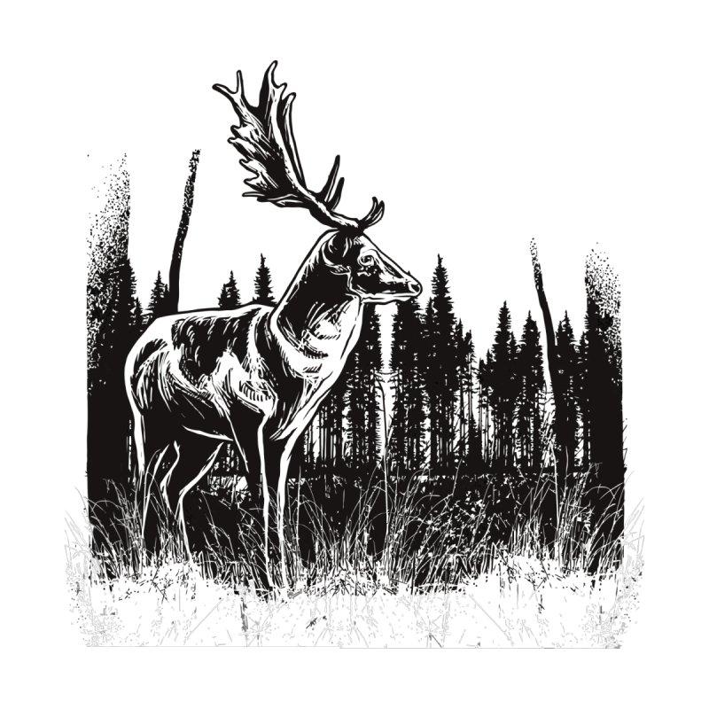 Classic Illustration of a Buck - No Branding Kids Toddler T-Shirt by Logo Gear & Logo Wear