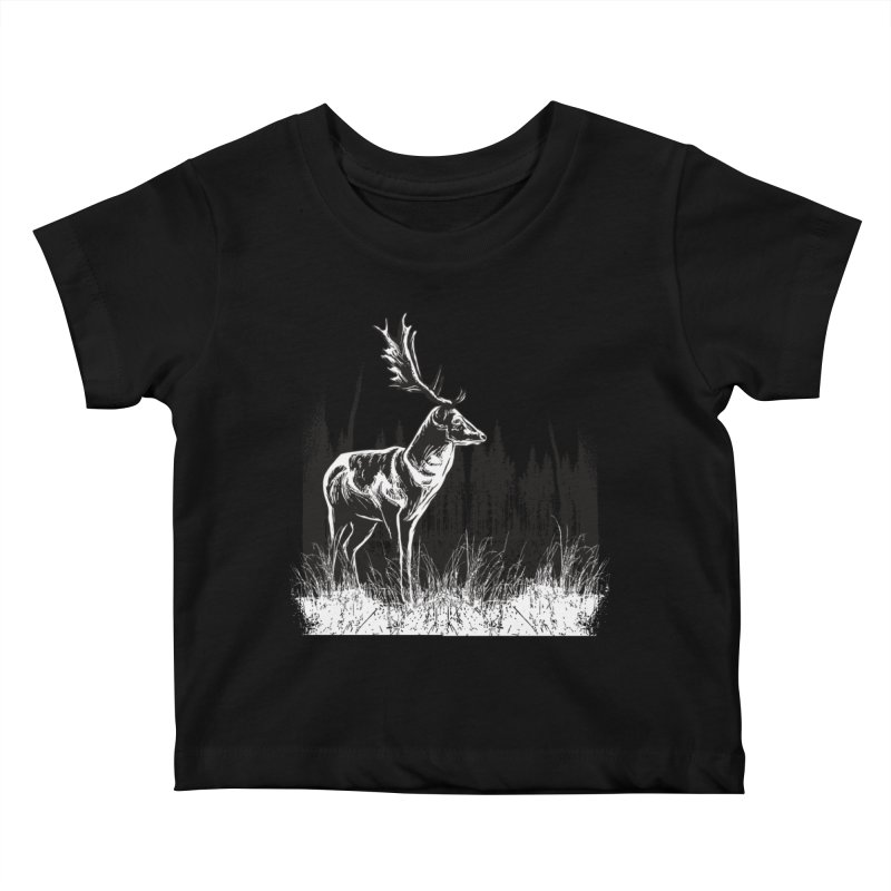 Classic Illustration of a Buck - No Branding Kids Baby T-Shirt by Logo Gear & Logo Wear