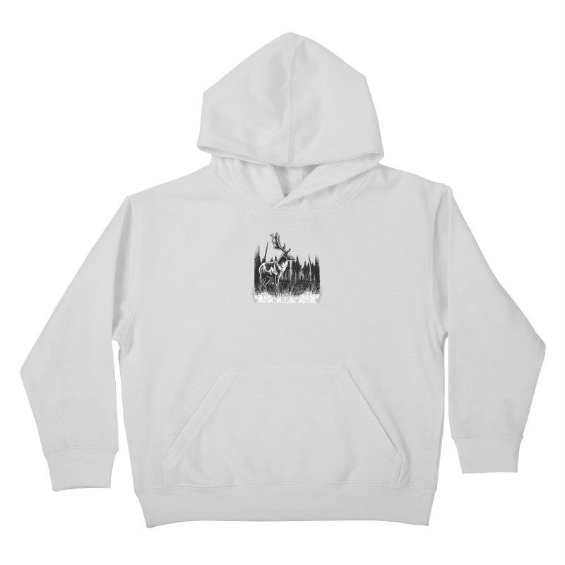 Classic Illustration of a Buck - No Branding Kids Pullover Hoody by Logo Gear & Logo Wear