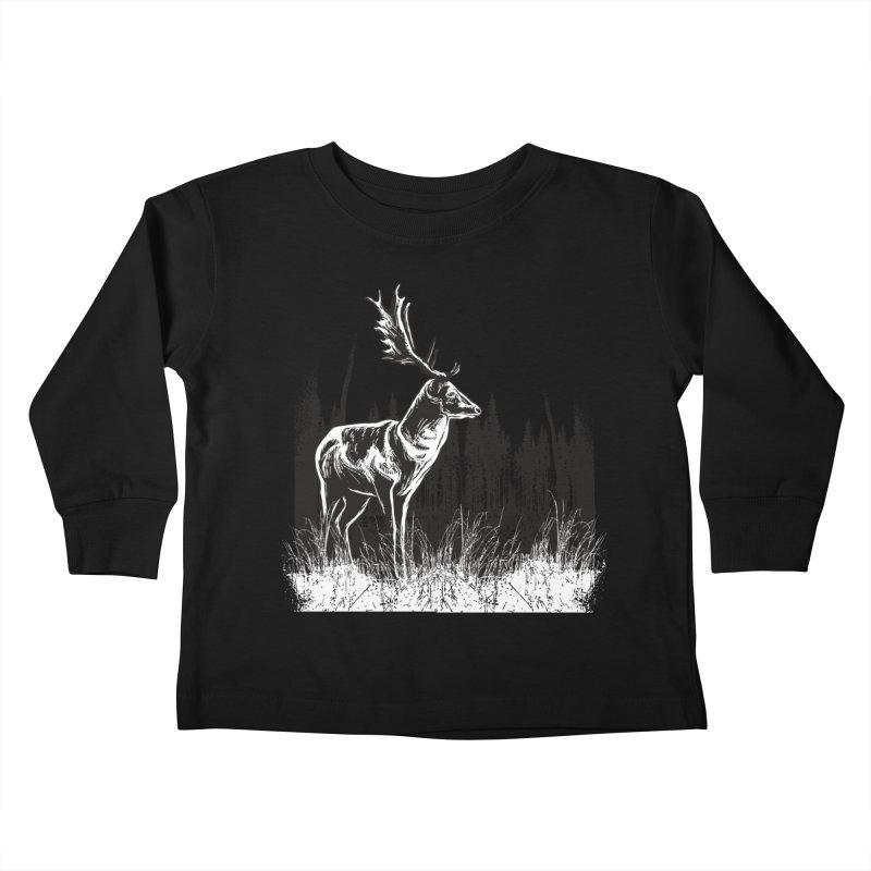 Classic Illustration of a Buck - No Branding Kids Toddler Longsleeve T-Shirt by Logo Gear & Logo Wear