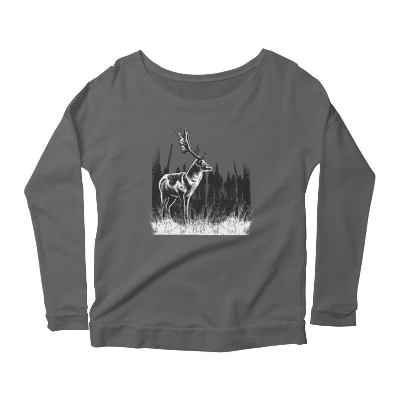 Classic Illustration of a Buck - No Branding Women's Longsleeve T-Shirt by Logo Gear & Logo Wear