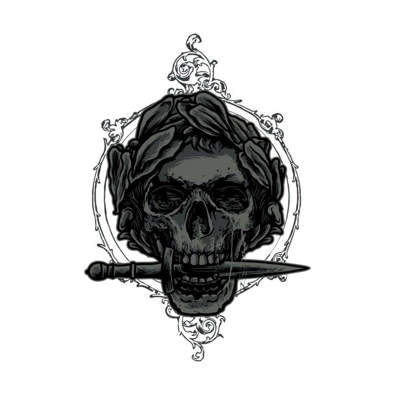 'Caesar' Skull Illustration Design Women's T-Shirt by Logo Gear & Logo Wear