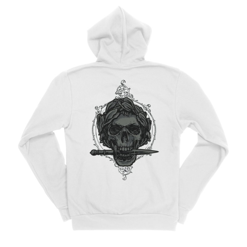 'Caesar' Skull Illustration Design Women's Zip-Up Hoody by Logo Gear & Logo Wear