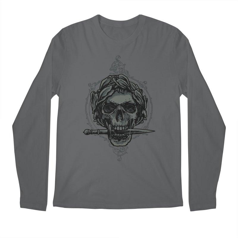 'Caesar' Skull Illustration Design Men's Longsleeve T-Shirt by Logo Gear & Logo Wear