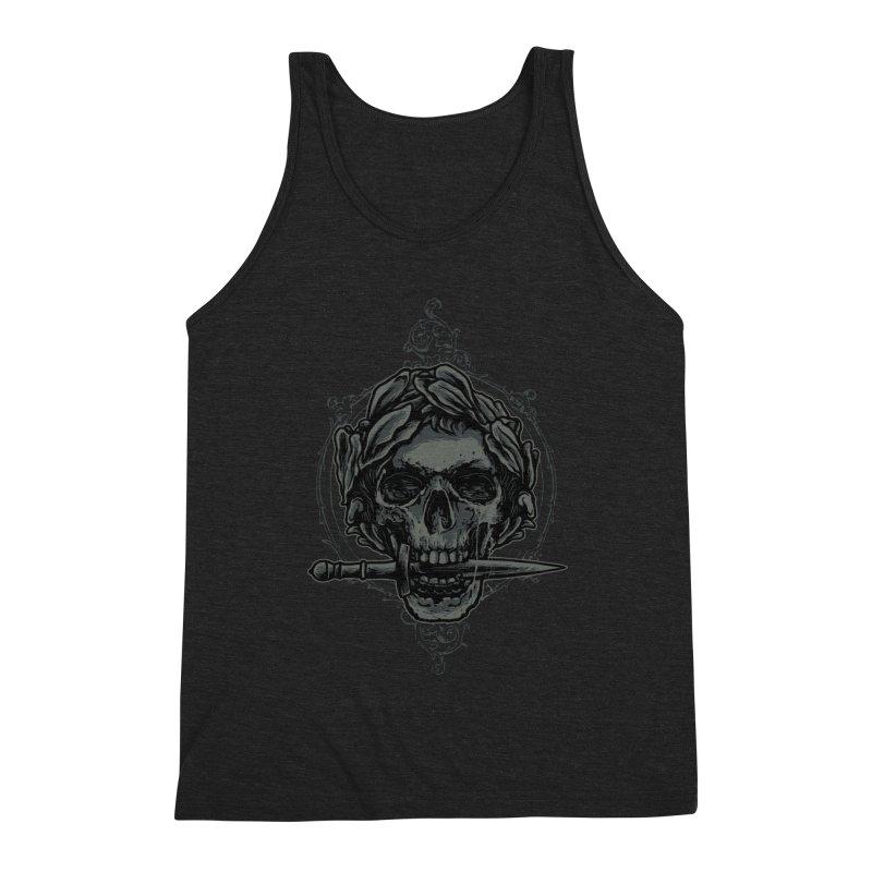'Caesar' Skull Illustration Design Men's Tank by Logo Gear & Logo Wear