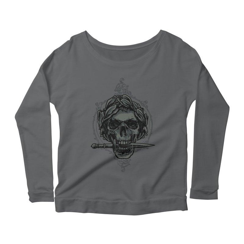'Caesar' Skull Illustration Design Women's Longsleeve T-Shirt by Logo Gear & Logo Wear