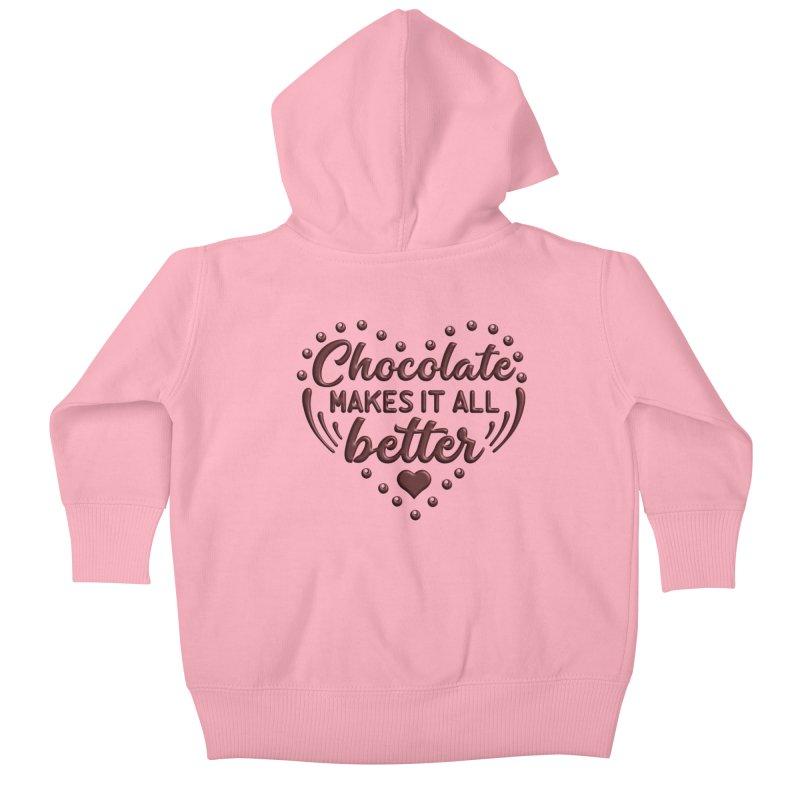 Chocolate Makes It All Better Heart Kids Baby Zip-Up Hoody by Logo Gear & Logo Wear