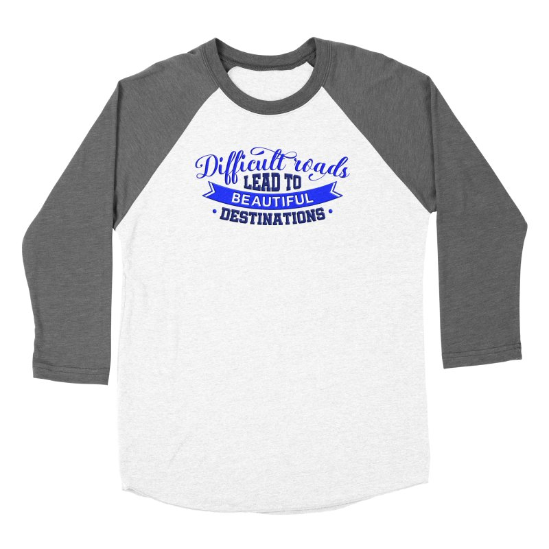 Difficult Roads - Dark Blue Print Women's Longsleeve T-Shirt by Logo Gear & Logo Wear
