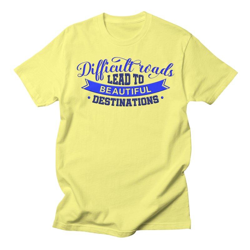 Difficult Roads - Dark Blue Print Men's T-Shirt by Logo Gear & Logo Wear