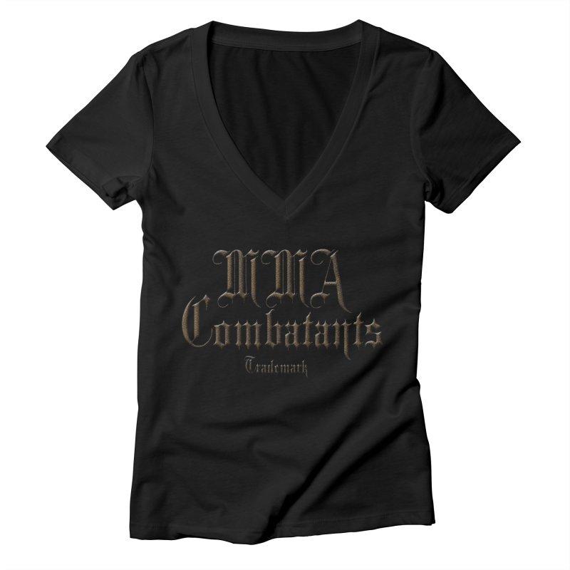 MMA Combatants Trademark Apparel Women's V-Neck by Logo Gear & Logo Wear