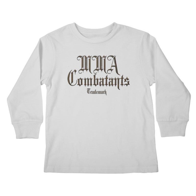 MMA Combatants Trademark Apparel Kids Longsleeve T-Shirt by Logo Gear & Logo Wear