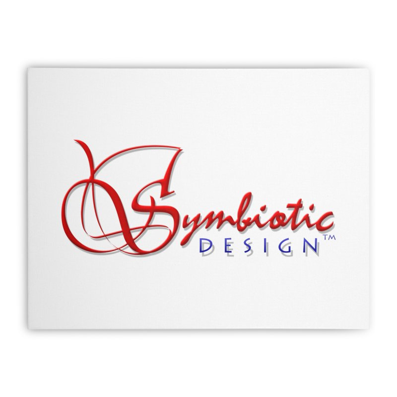 Symbiotic Design Trademark Art Home Stretched Canvas by Logo Gear & Logo Wear