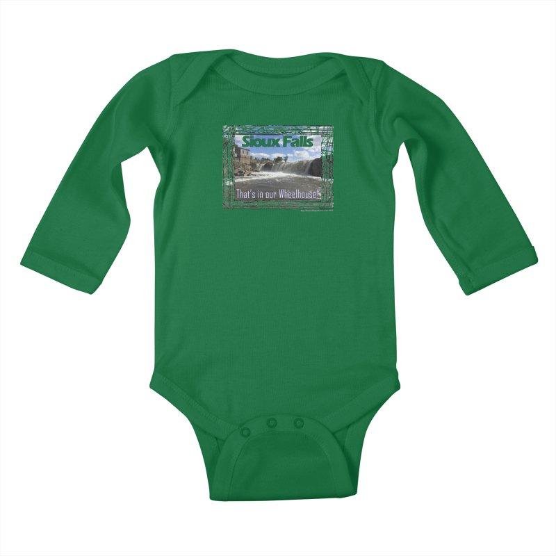 Sioux Falls - That's in our Wheelhouse! Kids Baby Longsleeve Bodysuit by Logo Gear & Logo Wear